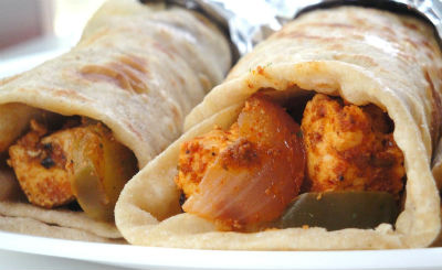 Paneer Egg Chapati Roll