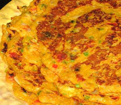 eggless vegetable omelette - Eggless Vegetable Omelette