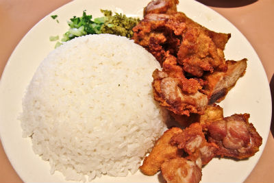 Five Spice Fried Chicken with Rice