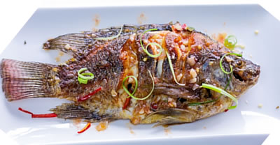 Thai style Fried Fish with Tamarind Sauce