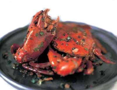 Pepper Crabs with Garlic