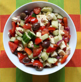 greek village salad - Greek Village Salad
