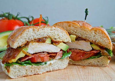 grilled chicken club sandwich - Grilled Chicken Club Sandwich