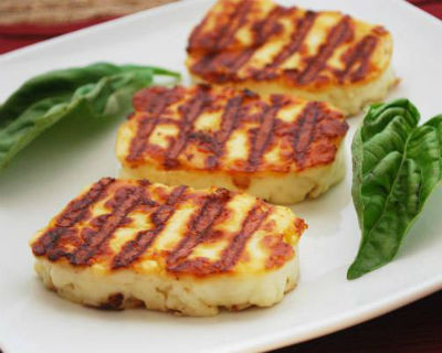 Grilled Halloumi Cheese Recipe How To Make Grilled