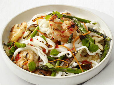 grilled shrimp rice noodle salad - Grilled Shrimp and Rice Noodle Salad