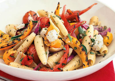Pasta with Grilled Vegetable Sauce