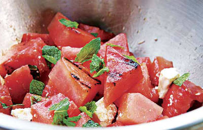 grilled watermelon salad - Grilled Watermelon Salad