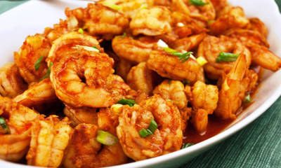 Honey Ginger Prawns
