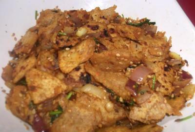 Leftover Masala Chapati