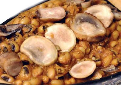 lobiya mushrooms - Black Eyed Beans with Mushrooms