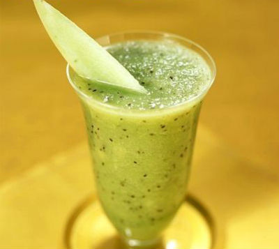 Melon and Kiwi Fruit Smoothie