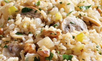mushroom vegetable rice - Mushroom Vegetable Rice