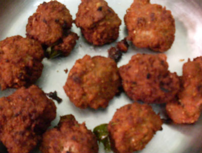 mutton balls - Erachi Urundai (Mutton Balls)