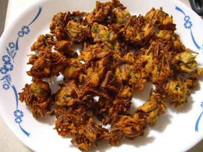 onion pakoda - Wheat Pakoda