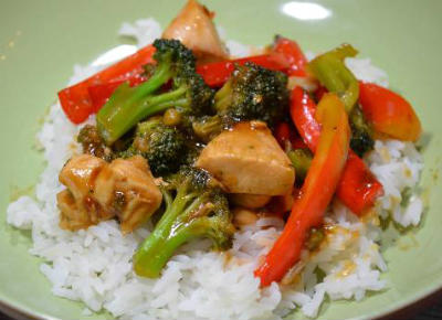 Orange, Chicken and Vegetable Stir Fry