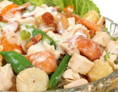 oriental fruit salad - Oriental Fruit Salad with Chicken