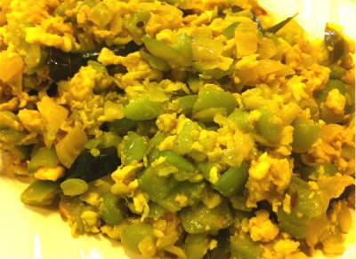 peerkangai muttai poriyal - Peerkangai Muttai Poriyal (Ridge Gourd and Egg Stir Fry)