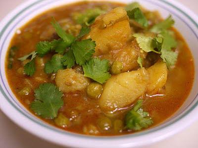 potato peas kurma - Potato Peas Kurma
