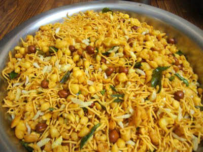 savoury mixture - Aval (Poha) Masala Mixture