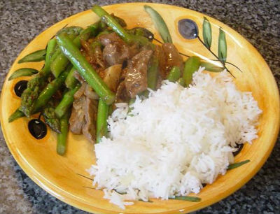 Sesame Beef and Asparagus