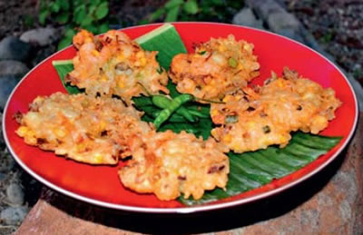 shrimp corn fritters - Corn and Shrimp Fritters