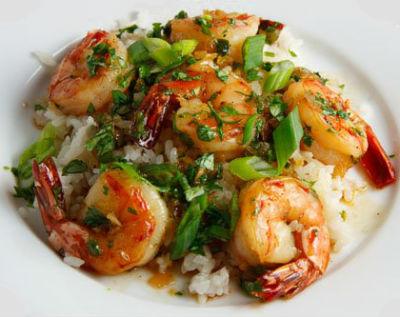 Shrimp in Caramel Sauce