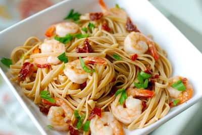 Pasta with Shrimp and Sun-Dried Tomatoes