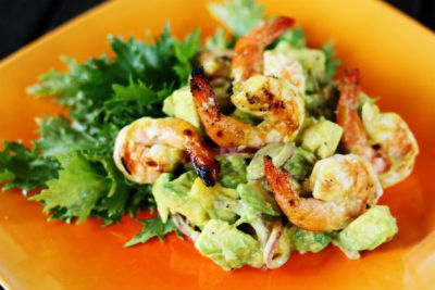 shrimp salad - Mango and Grilled Shrimp Salad