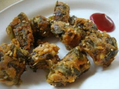 Palak Pakoda / Spinach Fritters