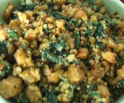 Spinach Paruppu Usili
