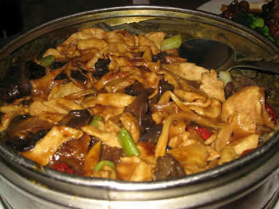 Steamed Chicken with Black Mushrooms