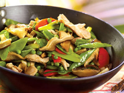 Tamarind Stir-Fried Chicken with Mushrooms
