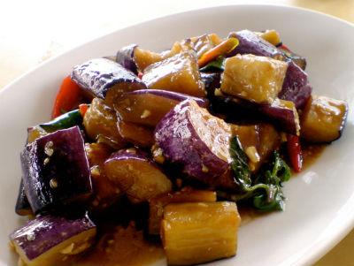 Stir-fried Brinjal