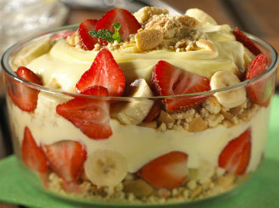 Strawberry Banana Cream Trifle