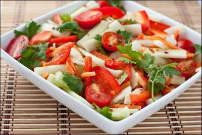 tomato cucumber - Tomato and Cucumber Salad