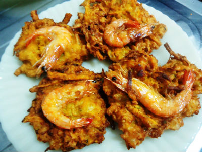 ukoy - Papaya Shrimp Fritters