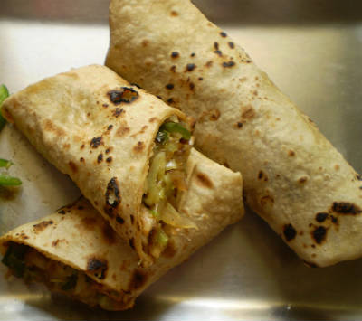 Vegetable Chapati Roll