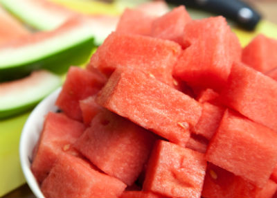 watermelon chunks - Watermelon Juice