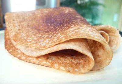 Wheat Jaggery Dosa
