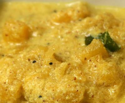 yellow pumpkin pachadi - Yellow Pumpkin Pachadi