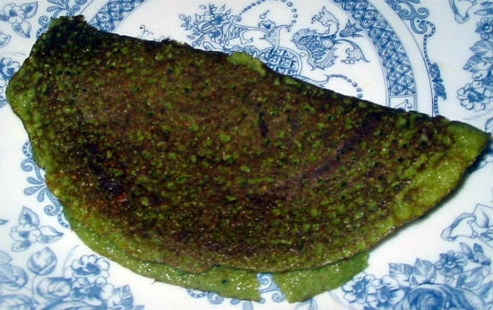 spinach dosa - Spinach Dosa