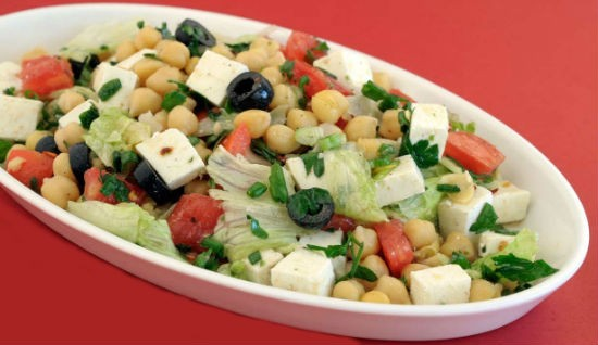 chickpeas paneer salad - Chickpeas Paneer Salad (Channa Paneer Salad)