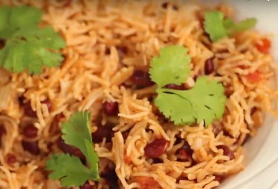 rajma pulao - Rajma Pulao (Red Beans Pulao)