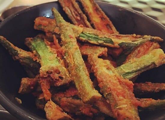 bhindi fry 1 - Bhindi Fry (Vendakkai Fry)