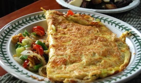 veggie omelette - Veggie Omelette