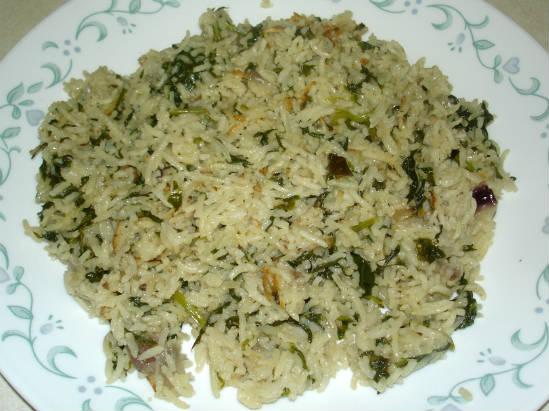 Keerai Sadam (Spinach Rice)
