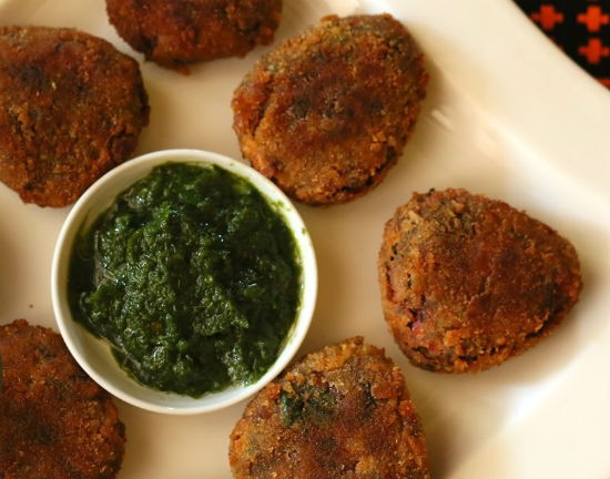 Potato Spinach Cutlet
