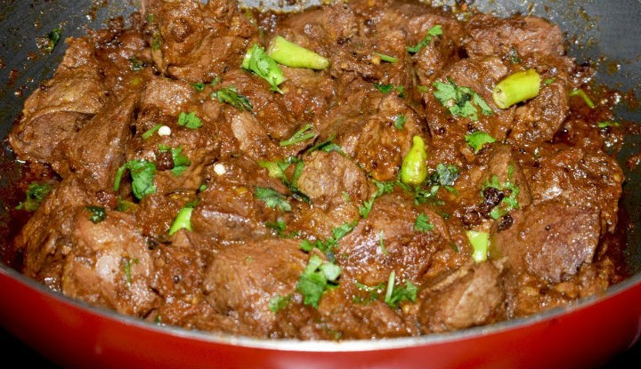 Kaleji Masala (Spicy Mutton Liver Curry)