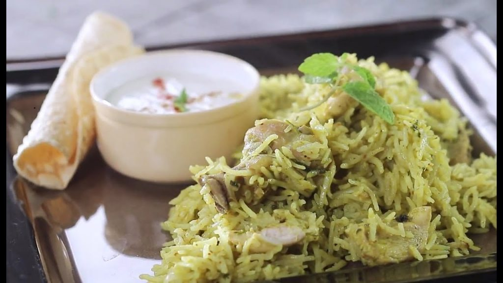 Mint Pulao 1024x576 - Chicken Mint Pulao