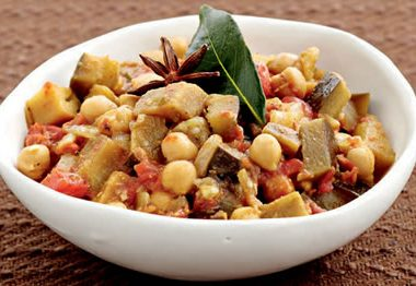 Brinjal Chickpea Curry 380x262 - Pasta Rice Salad